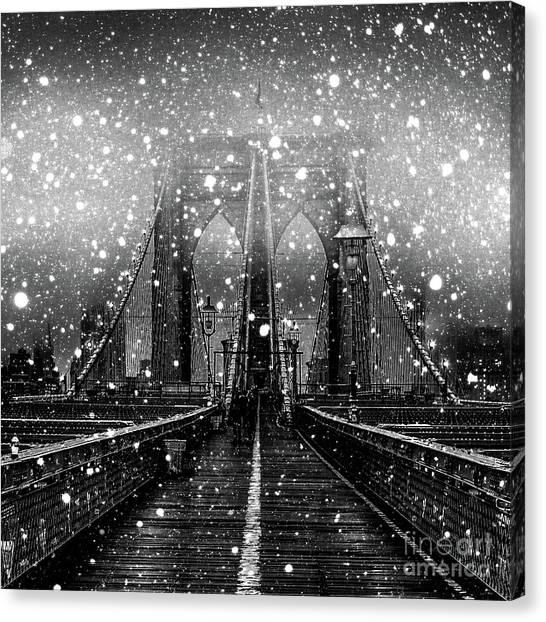Winter Canvas Print - Snow Collection Set 04 by Az Jackson