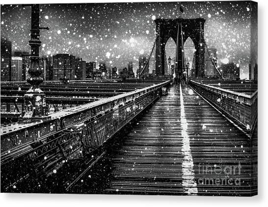 Winter Canvas Print - Snow Collection Set 05 by Az Jackson