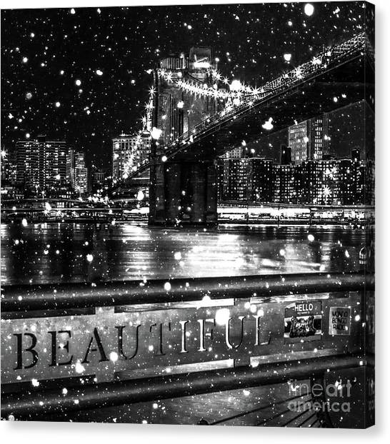 Winter Canvas Print - Snow Collection Set 09 by Az Jackson