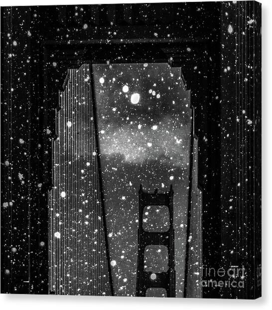 Winter Canvas Print - Snow Collection Set 12 by Az Jackson