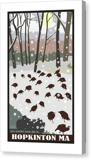 Snow Day In Hopkinton Canvas Print