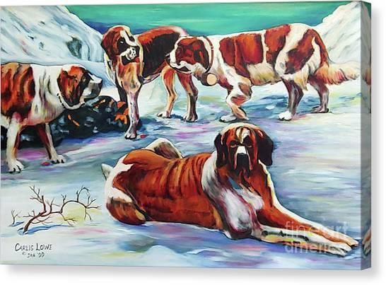 Snow Dogs Canvas Print