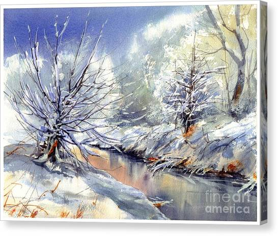 Appalachian Canvas Print - Snow Flurry by Suzann Sines