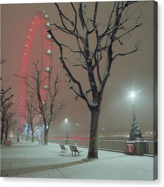 Snow Bank Canvas Print - Snow On The South Bank Xl by Beholdingeye