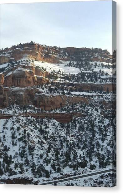 Snow Steps Canvas Print