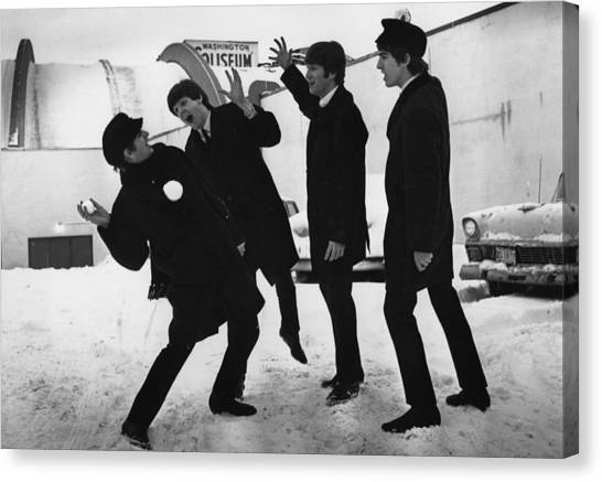 Snowball Beatles Canvas Print by Central Press