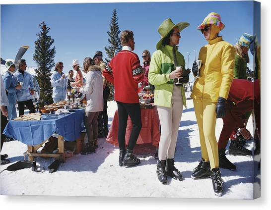 Snowmass Gathering Canvas Print