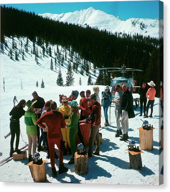 Snowmass Picnic Canvas Print by Slim Aarons