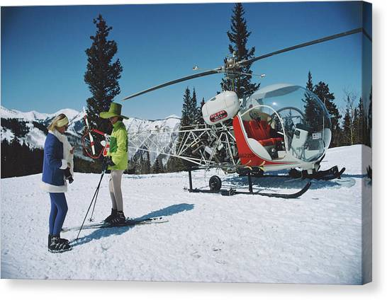 Snowmass Village Canvas Print by Slim Aarons
