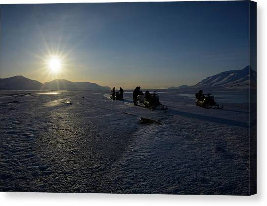 Snowmobile Expeditions Canvas Print