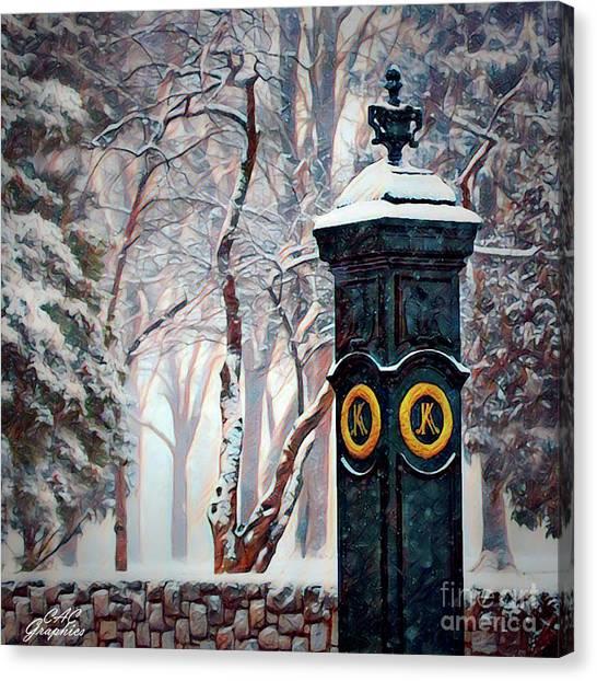Snowy Keeneland Canvas Print