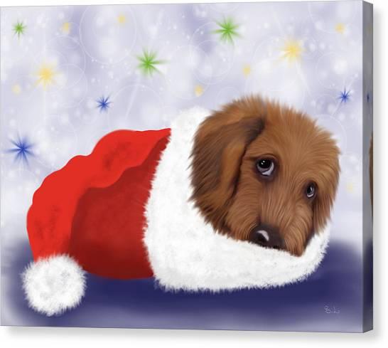Snuggle Puppy Canvas Print