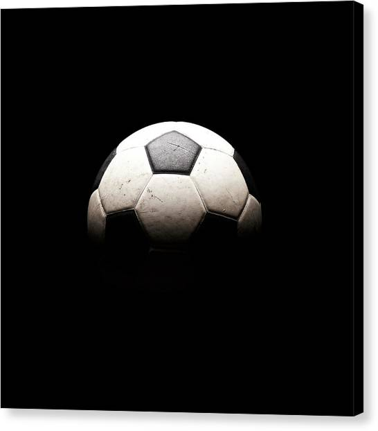 Soccer Ball In Shadows Canvas Print by Thomas Northcut