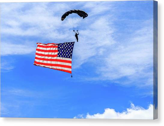 Socom Flag Jump Canvas Print