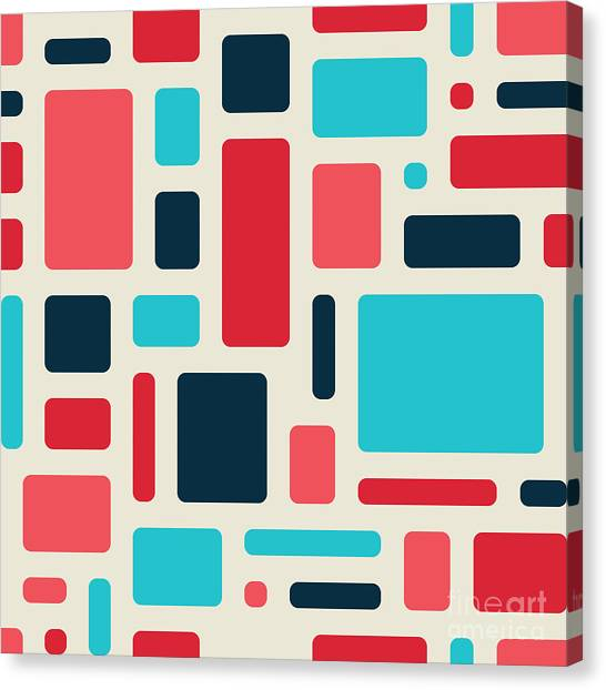 Background Canvas Print - Soft Geometric Pattern In Retro by Vector Fx