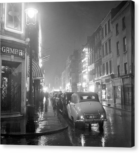 Soho Night Canvas Print by Peter Purdy