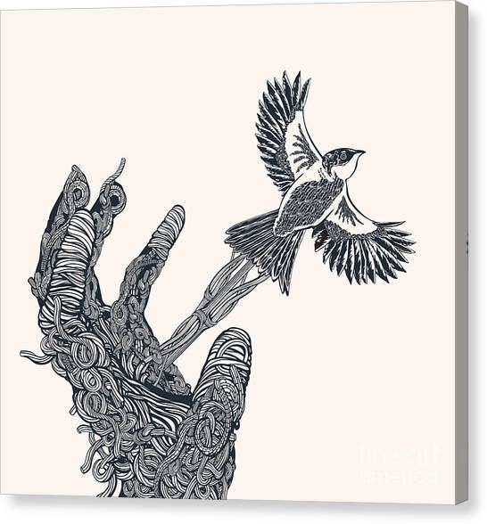 Connect Canvas Print - Some Birds Are Not Meant To Be Caged by Ryger