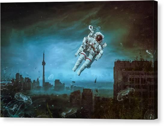Urban Decay Canvas Print - Sometimes by Mario Sanchez Nevado