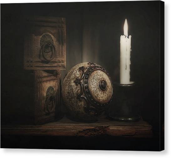 Drawers Canvas Print - Somewhere On A Shelf by Tom Mc Nemar