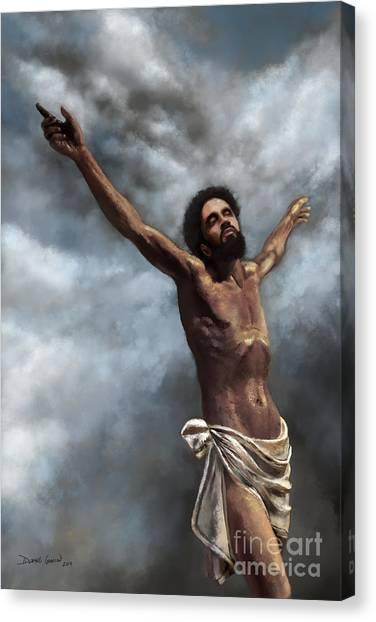 Canvas Print featuring the digital art Son Of God by Dwayne Glapion