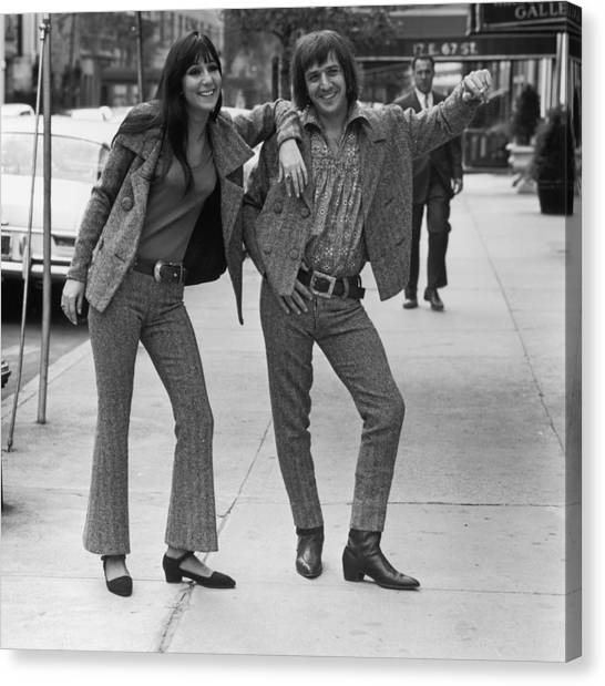Sonny And Cher Canvas Print
