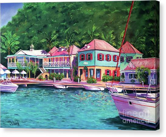 Puerto Canvas Print - Soper's Hole Tortola  16x23 by John Clark