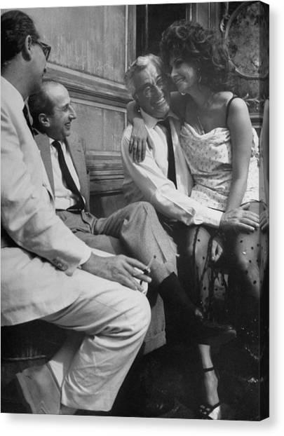 Sophia Lorenvittorio De Sica Canvas Print by Alfred Eisenstaedt