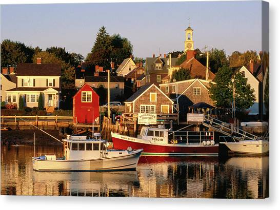 South End, Harbor And Houses Canvas Print