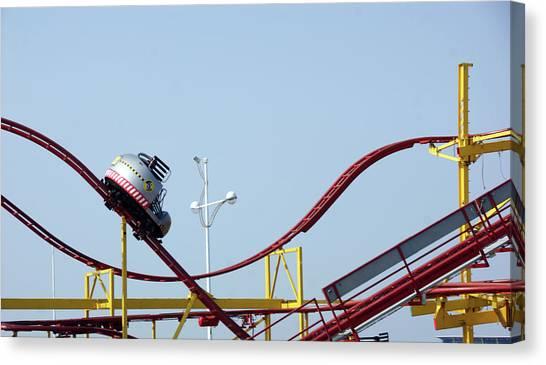 Southport.  The Fairground. Crash Test Ride. Canvas Print