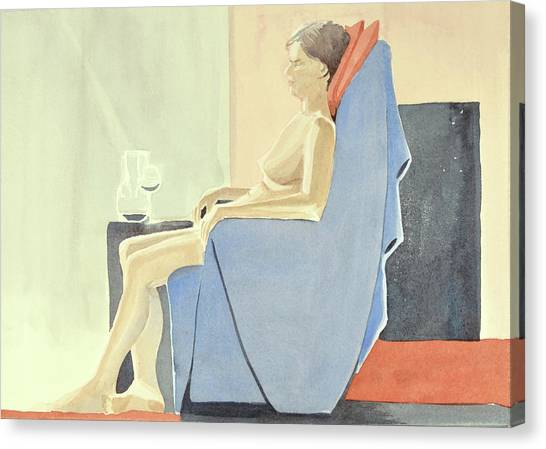 Sovande Sittande Sitting Asleep 2013 06 15-16_0091 4 Mb Up To 61x91 Cm  Canvas Print