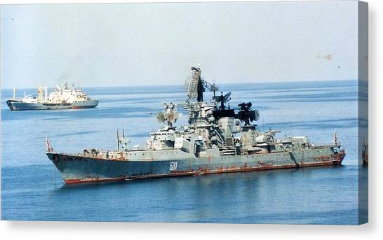 Soviet Navy Kresta II Class Cruiser Canvas Print