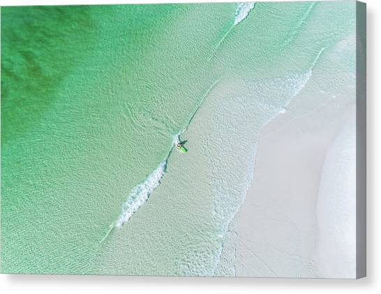 Sowal Surfing Aerial Canvas Print