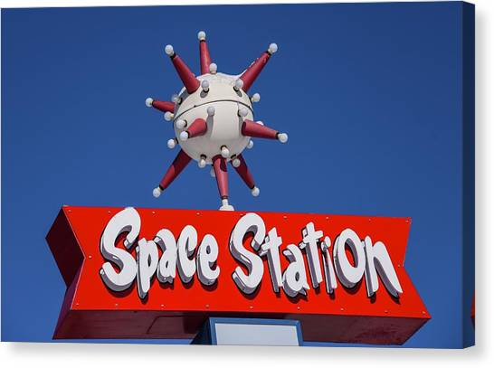Canvas Print featuring the photograph Space Station by Rand