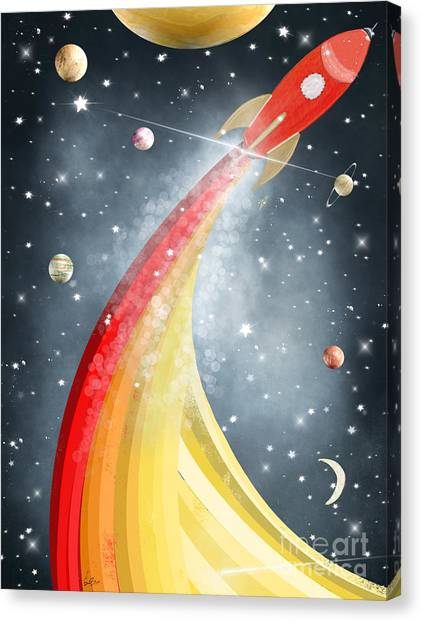 Solar System Canvas Print - Space Time by Bri Buckley