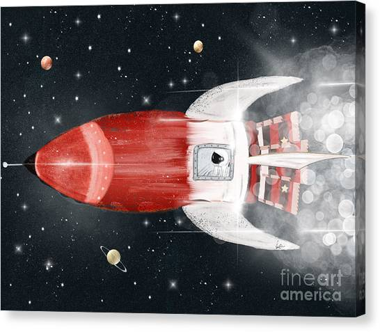Solar System Canvas Print - Space Voyager by Bri Buckley