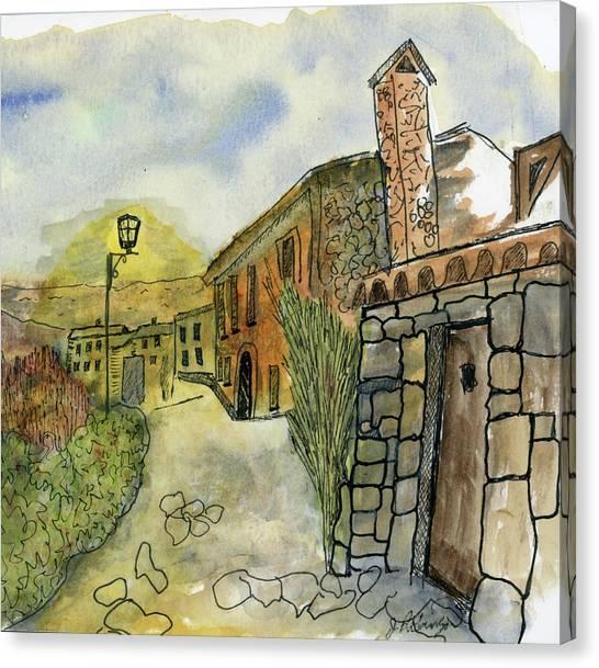 Spain Medieval Village Canvas Print