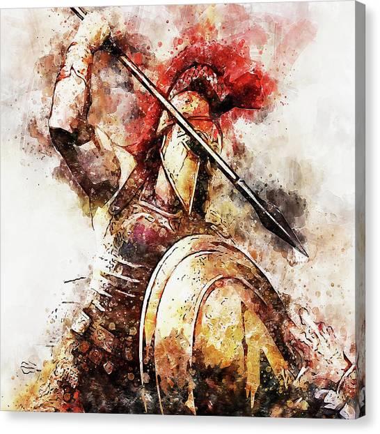 Spartan Hoplite - 54 Canvas Print