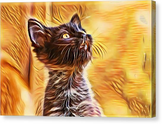 Special Long Neck Kitty Canvas Print