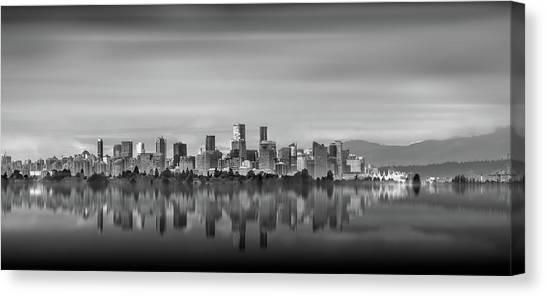 Special View Of Downtown Vancouver Canvas Print