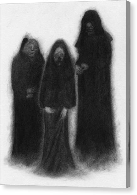 Specters Of The Darkness Beneath - Artwork Canvas Print