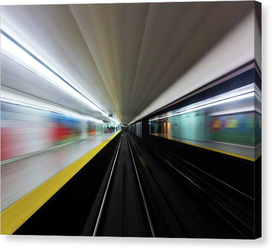 Canvas Print featuring the photograph Speed 2 by Brian Carson