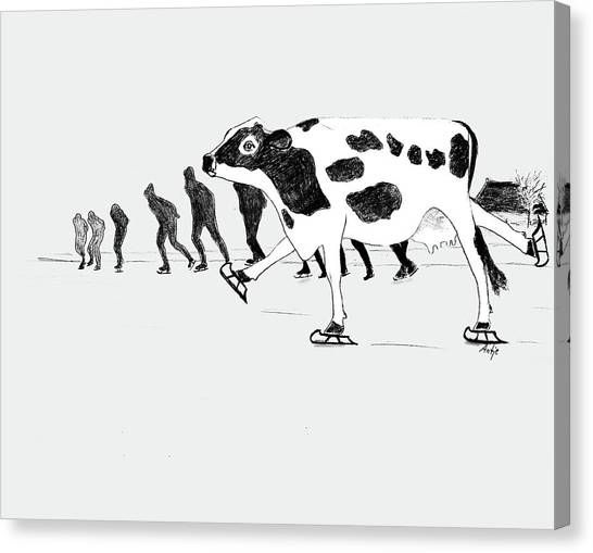 Speed Skating Canvas Print - Speed Skating by Antje Martens-Oberwelland