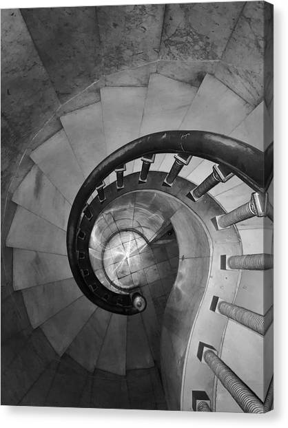 Spiral Staircase, Lakewood  Cemetary Chapel Canvas Print