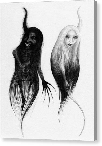 Spirits Of The Twin Sisters - Artwork Canvas Print