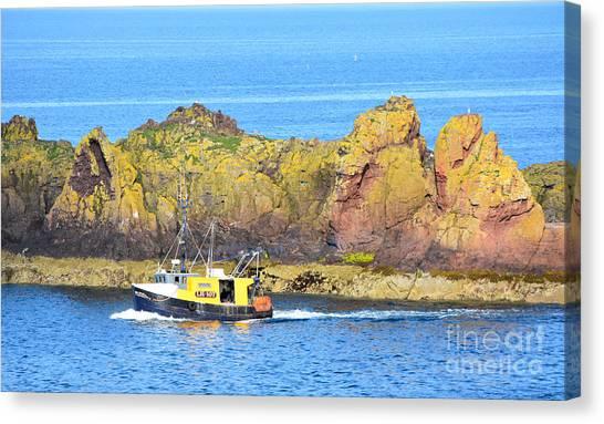 Spitfire Trawler Dunbar Canvas Print by Yvonne Johnstone