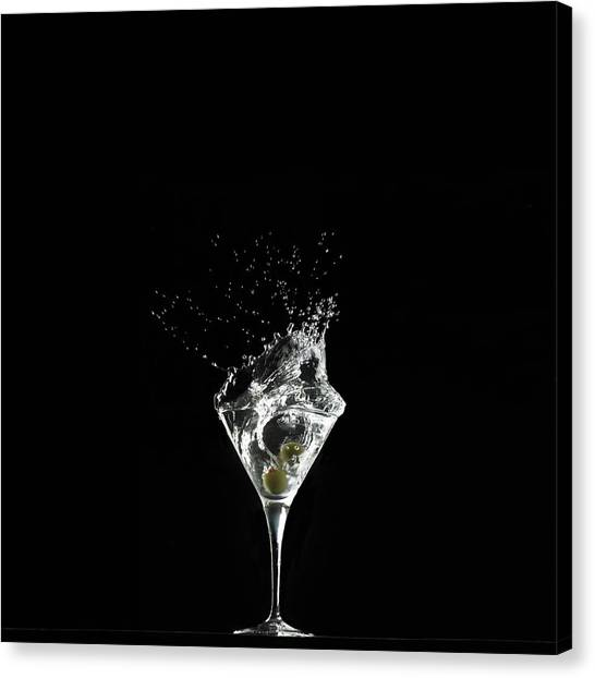 Splashed Cocktail Canvas Print