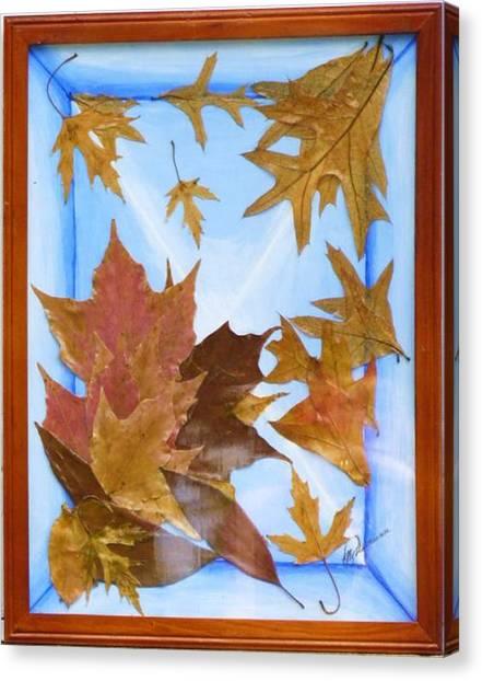 Splattered Leaves Canvas Print