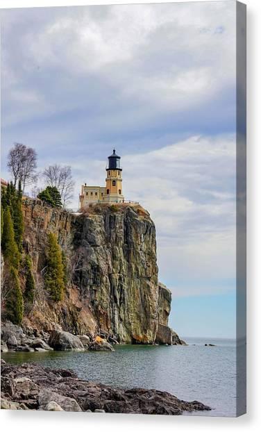 Split Rock Lighthouse Portrait Canvas Print
