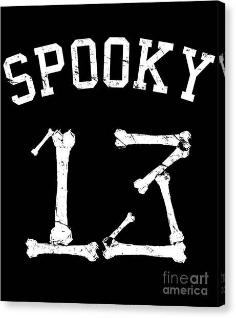 Spooky 13 Halloween Jersey Canvas Print