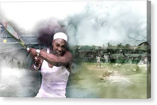 Serena Williams Canvas Print - Sports 180007534 by Jani Heinonen